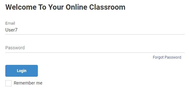 Online classroom sign in