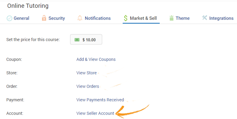 Your seller account