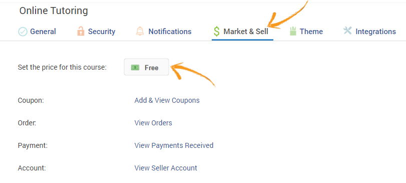 Market and sell your course