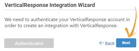 Authenticating VerticalResponse