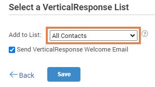 VerticalResponse subscription list