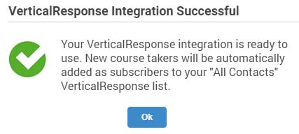 VerticalResponse and Training Maker integration successful