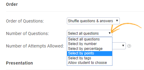 How to Create Question Banks With Selection Done on Basis of Points