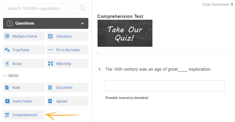 How to Create a Comprehension Test - ProProfs Quiz Maker FAQs