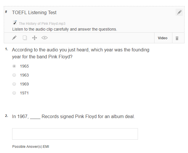 How to Add a Video and Audio Track to Quiz Questions