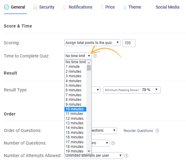How to Create a Timed Quiz - ProProfs Quiz Maker FAQs
