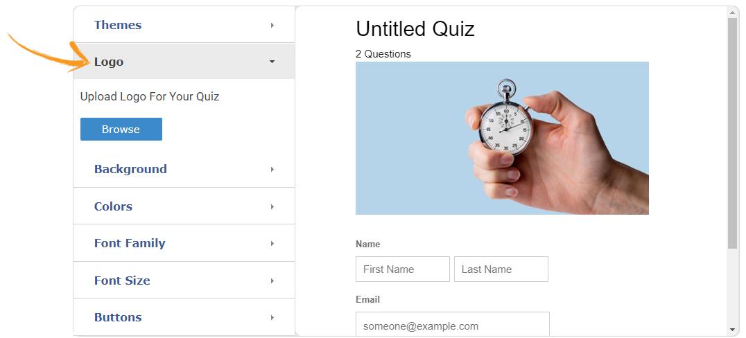 Add logo to a quiz