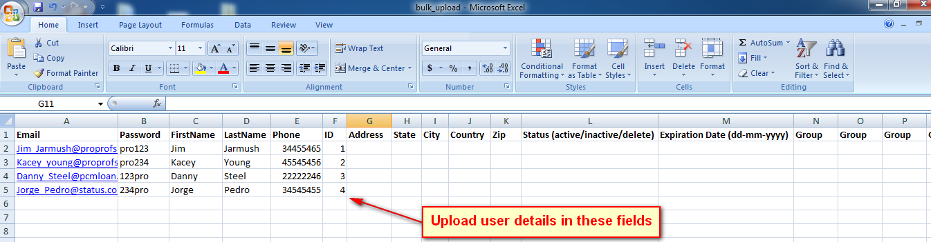 How to Upload Bulk User Details to Classroom - ProProfs Quiz