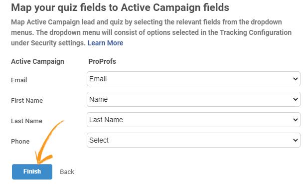 Map quiz fields
