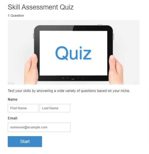 Quiz Taker's Preview
