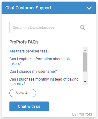 ProProfs Chat Integration With ProProfs Knowledge Base