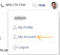 Navigate to My Account