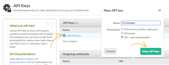 Add New API Key