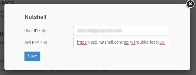 Add User ID and API Key