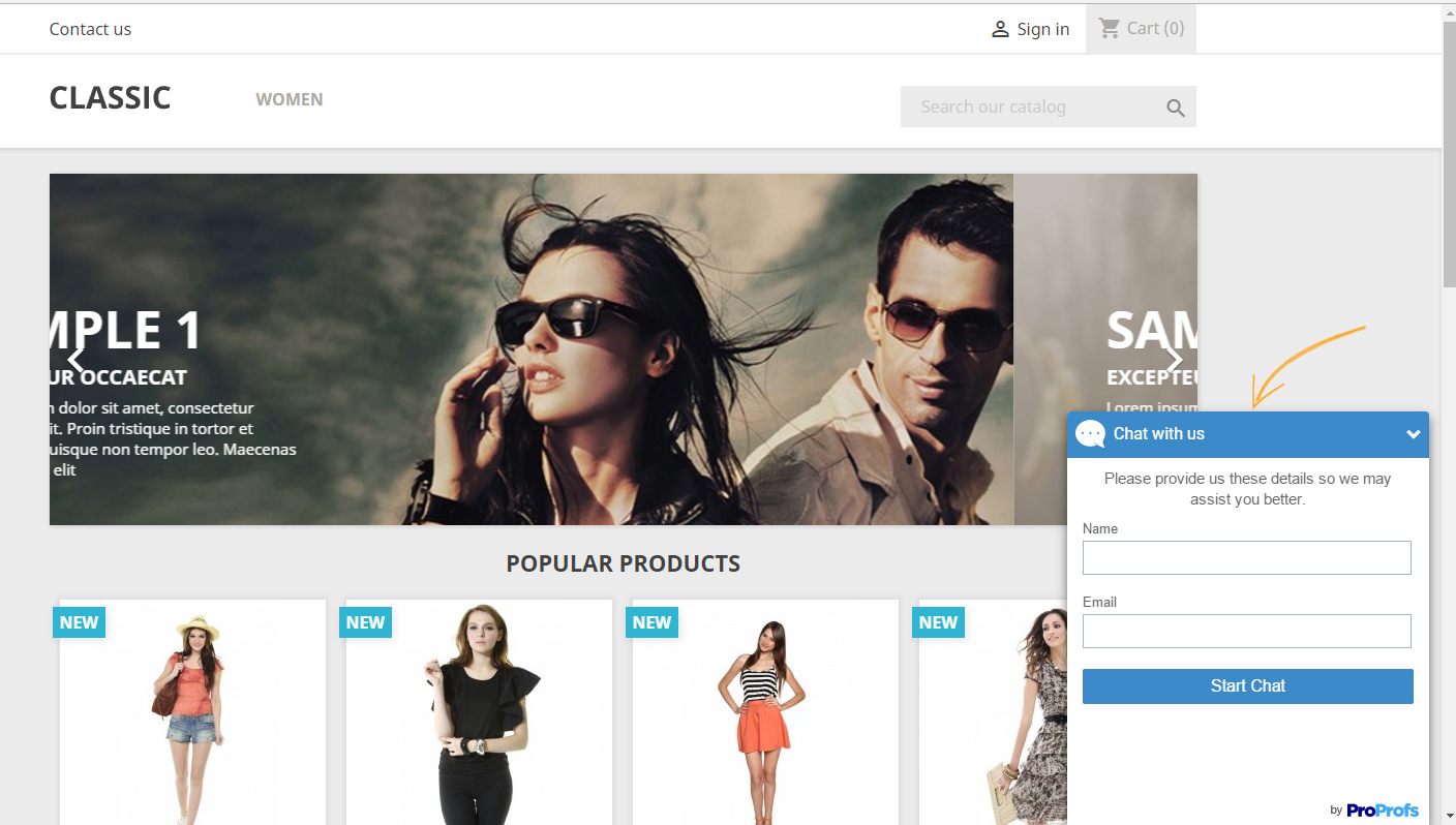 Chat with customers on your PrestaShop website