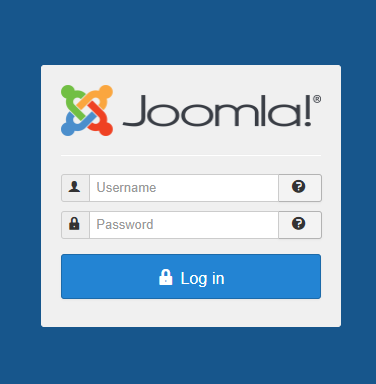 Log in to your Joomla admin account