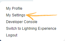 Go to User and click on My Settings