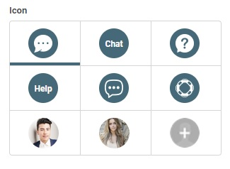 Choose the icon of live chat widget