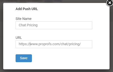 Your Push URL is now ready to be shared