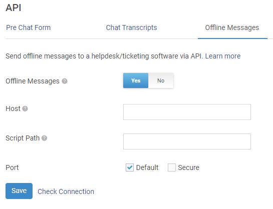 Fill the Form to Enable Offline Message API
