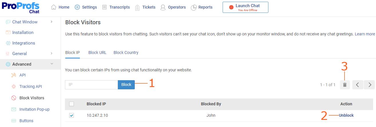Block IP