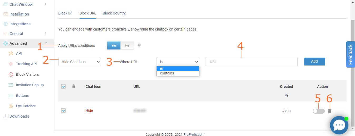 Block URL