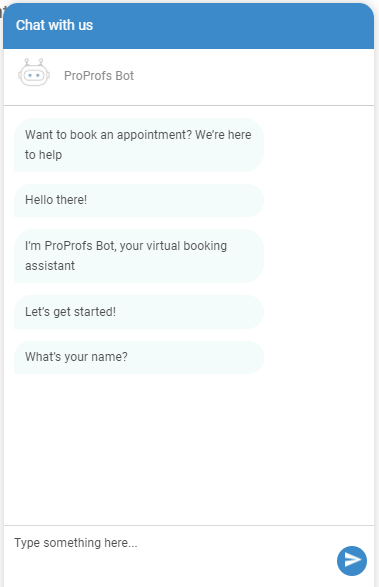 Chatbot for appointment