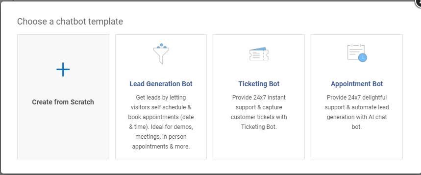 Choosing a chatbot template