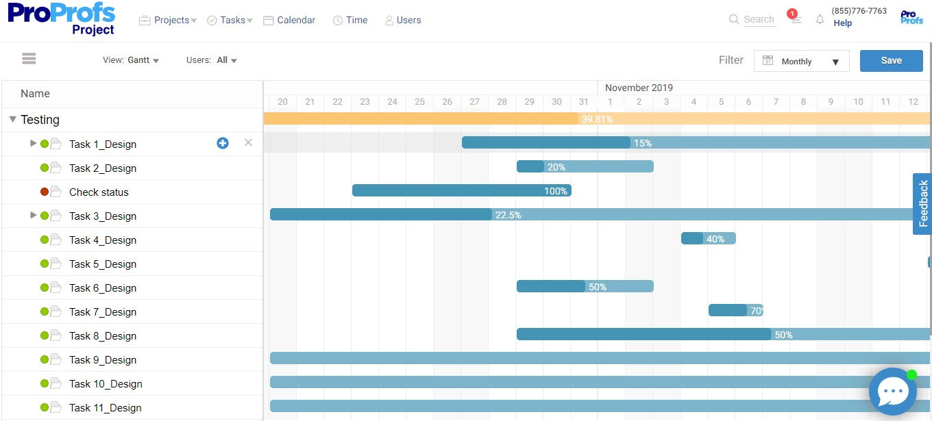 Change duration of tasks by stretching progress bar in Gantt chart