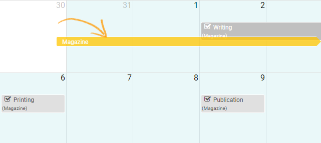 Change date for tasks in calendar view