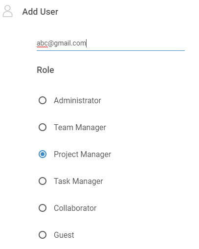 Add user email address, roles & permissions