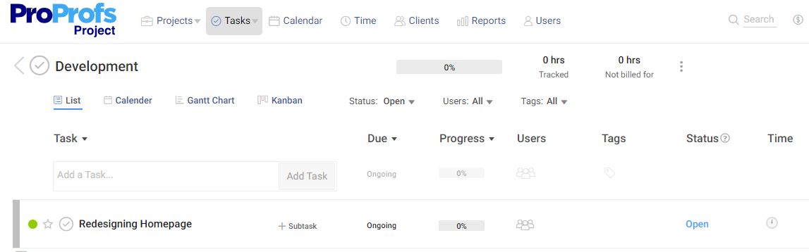 Same task under multiple projects