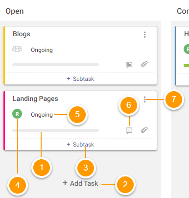 Manage project tasks in Kanban view