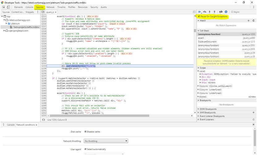 Capturing Detailed Errors - Workamajig Online Help Guide