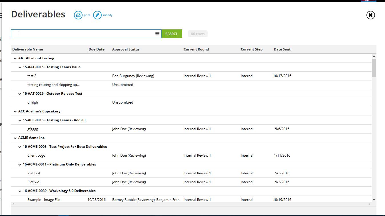 Deliverables - Workamajig Online Help Guide