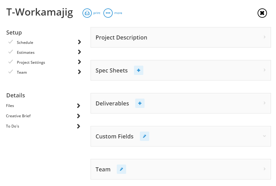 Add New Project Template Step By Step Workamajig Online