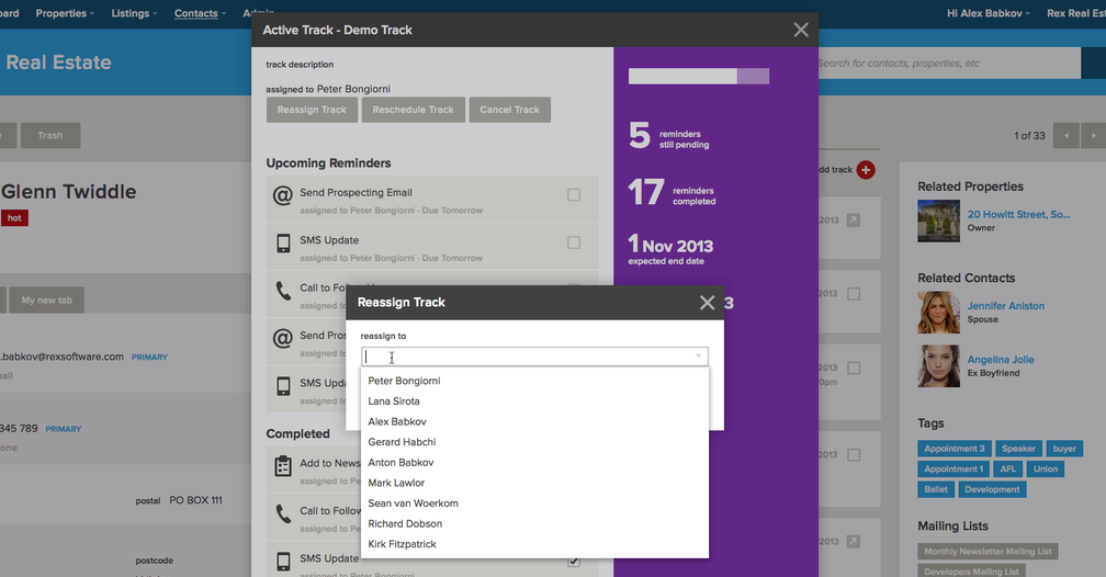 Tracks: Viewing Tracks & Their Progress – Rex Software Support