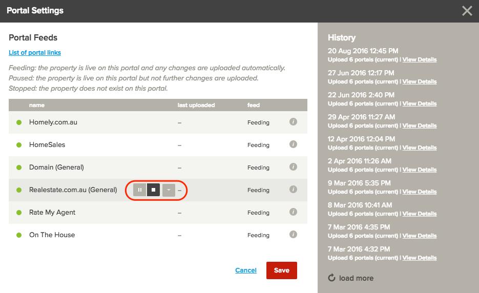 Change portal status