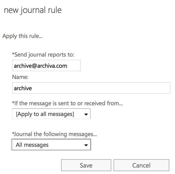 Office 365 - MailArchiva Online Help