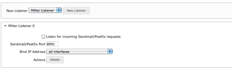 Listeners - MailArchiva Online Help