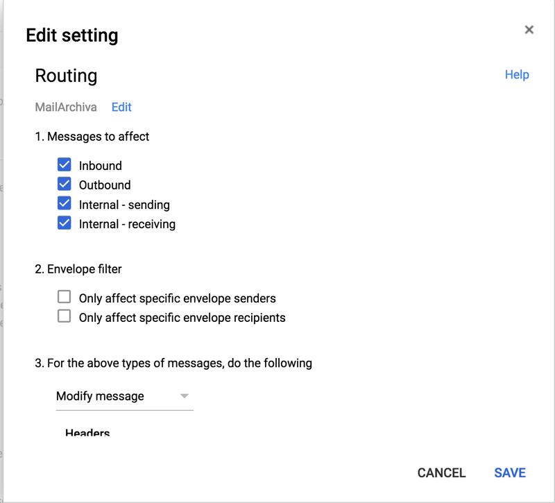 Google GSuite - MailArchiva Online Help