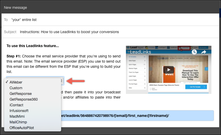 Create a trigger link – Leadpages Knowledge Base