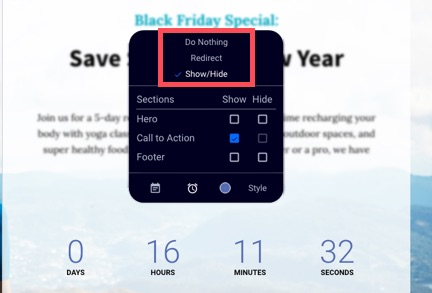 The countdown widget – Leadpages Knowledge Base