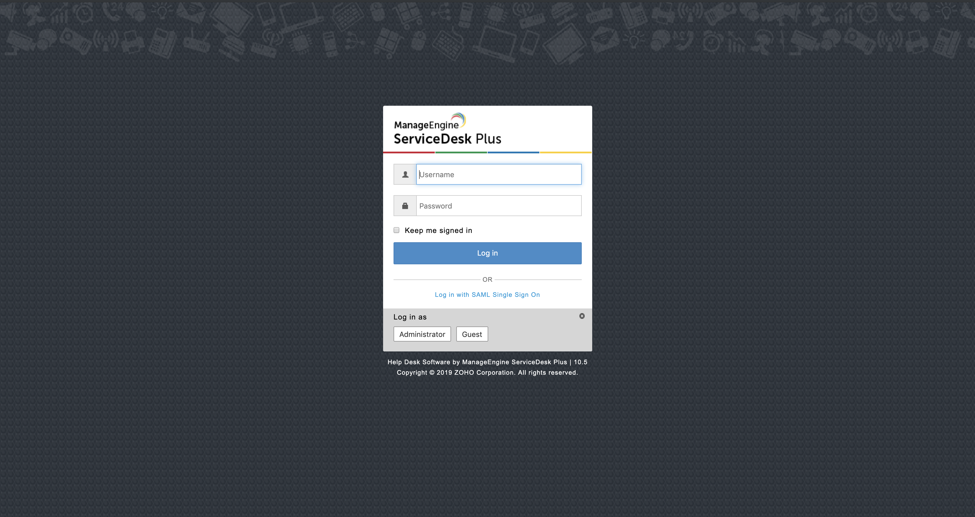 SAML Authentication - SDP help desk guide