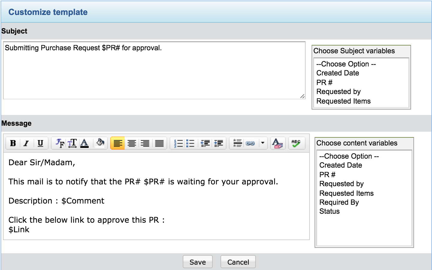 Purchase request | Purchase workflow - An overview - SDP help desk guide