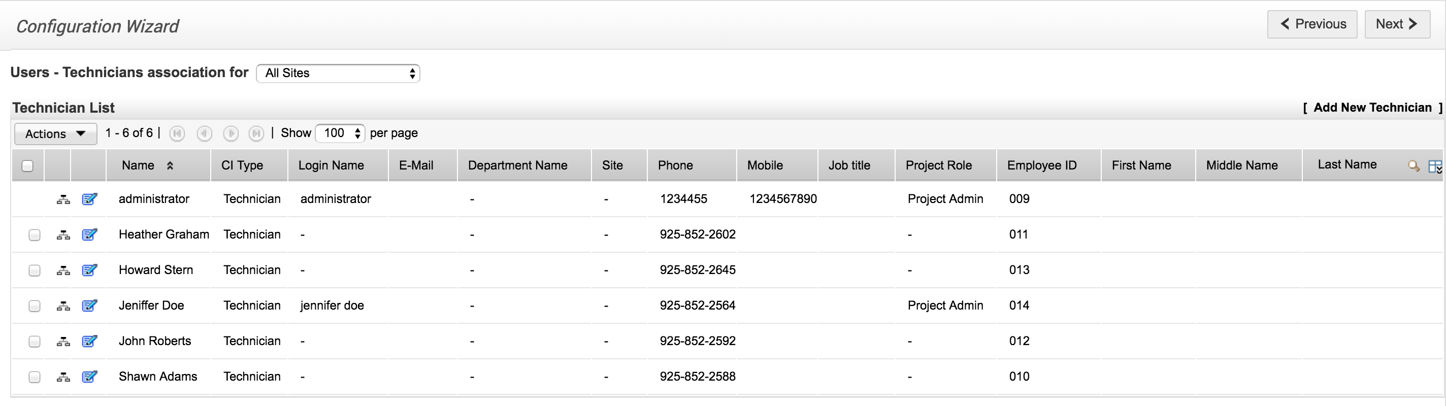 Configure technicians | Help desk customizer - SDP help desk guide