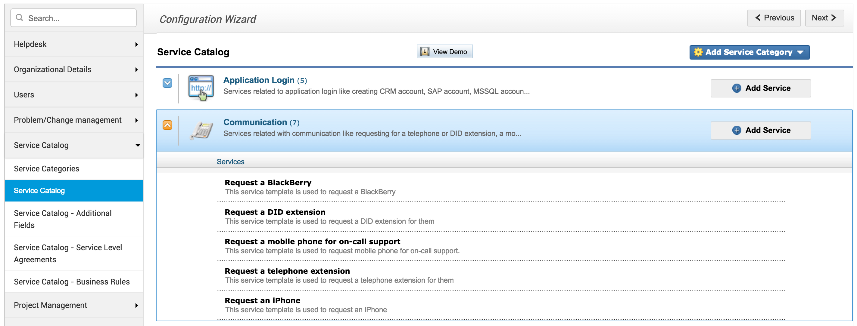 Service Level Agreements Sla Service Catalog Sdp Help Desk Guide