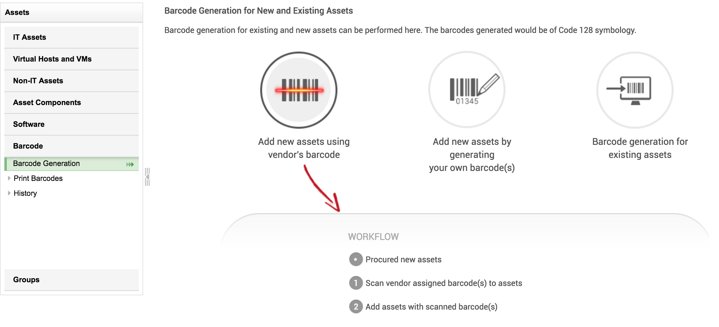 Barcode generation & scanning | How to access the barcode - SDP help
