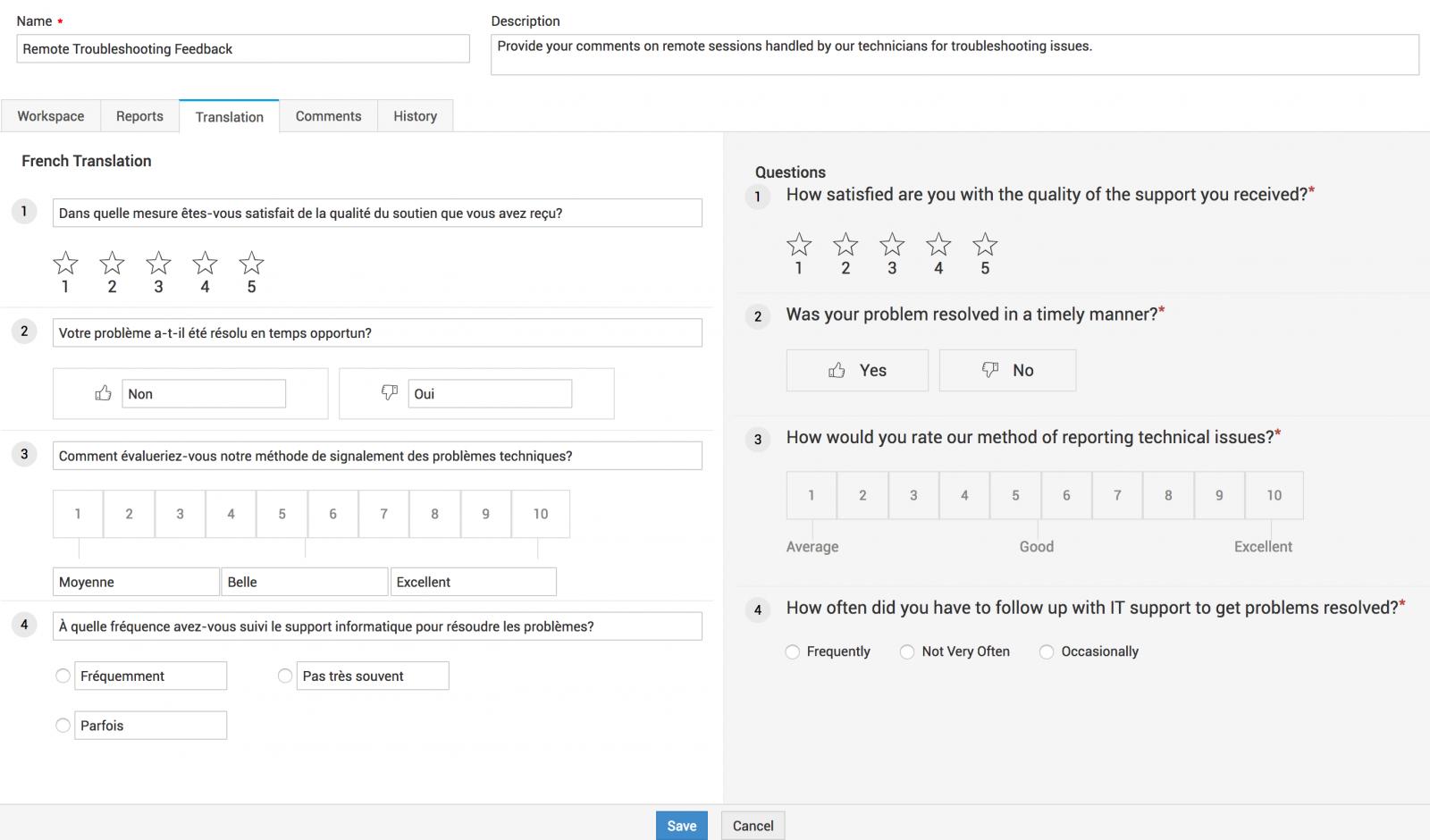 user survey configuration sdp help desk guide