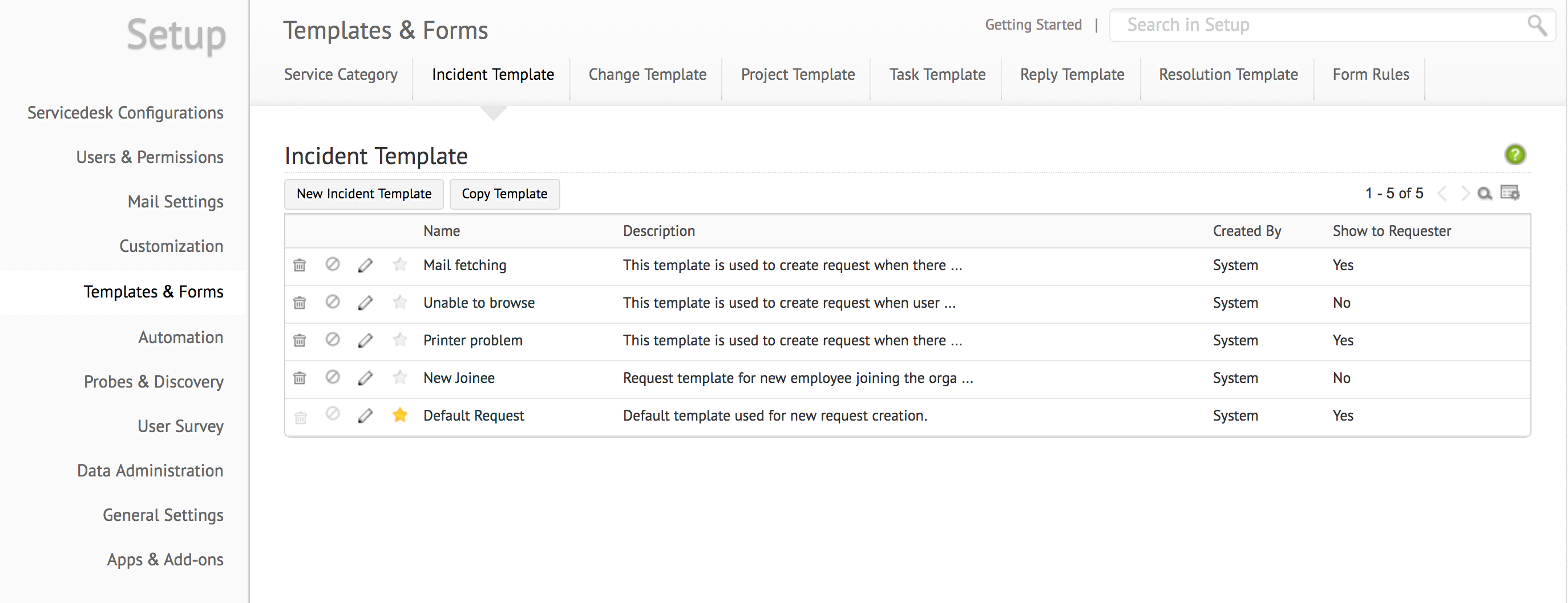 configuring request template servicedesk plus cloud sdp ondemand